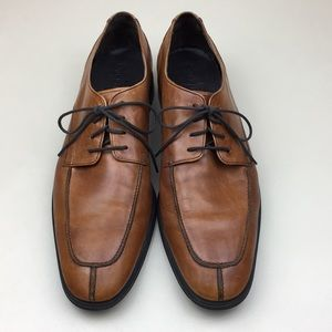 Cole Haan Brown Leather Split Toe Oxford Shoes